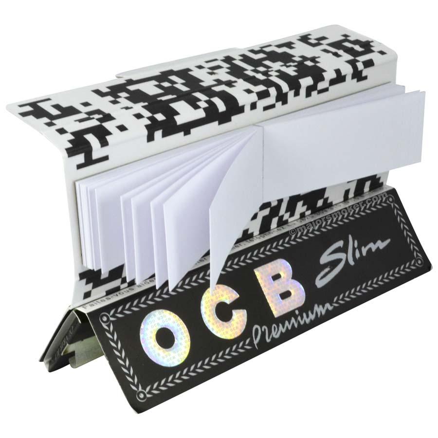 5 Carnets De Feuilles à rouler slim OCB avec filtres tips intégrés