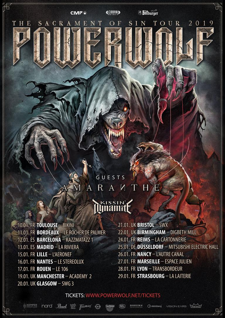 POWERWOLF [Lyon - 69] > 28-01-2019