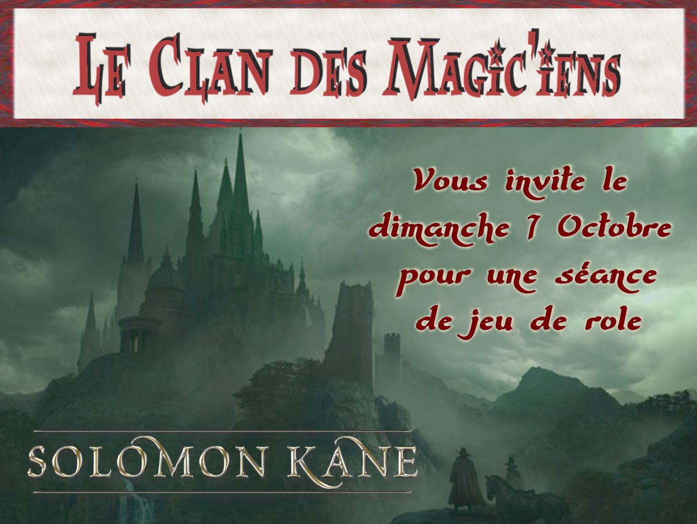 Dimanche 7 Octobre : Jeu de rôle (Solomon Kane) à partir de 14 h Omq47