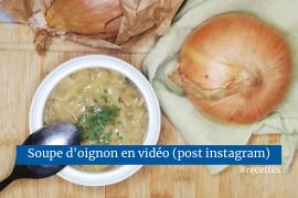 Soupe d'oignons recette vegan sans gluten facile