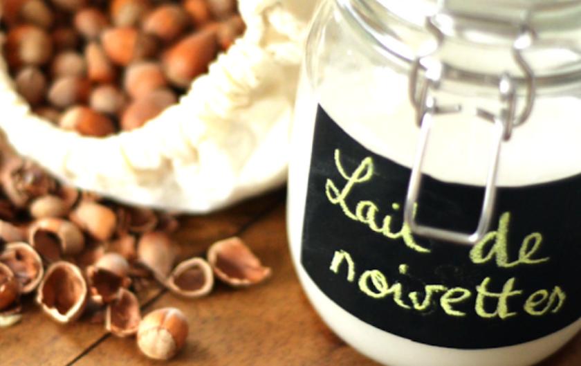 Recette lait de noisettes facile vegan sans lactose