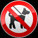 Pictogramme interdit aux animaux