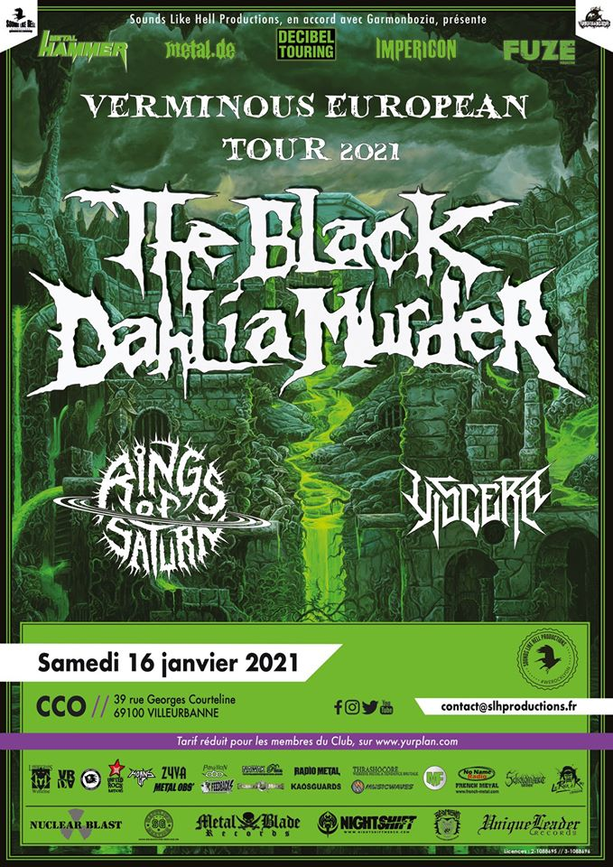 THE BLACK DAHLIA MURDER [Lyon - 69] > 16-01-2021