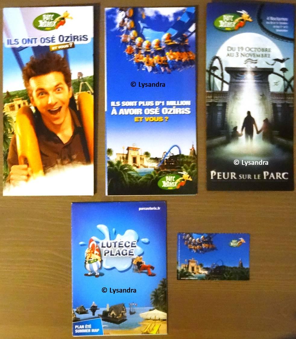 Dépliants, plans, tickets du Parc Astérix X0A8l