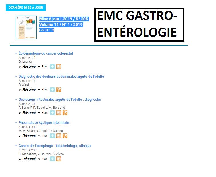 GASTRO-ENTÉROLOGIE TÉLÉCHARGER EMC