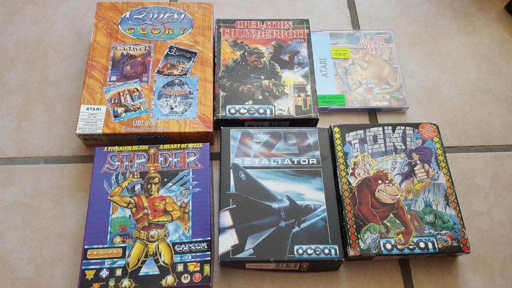Vente ordinateurs et jeux Atari, Amiga, Amstrad et PC MAJ 20/01 X2LJV