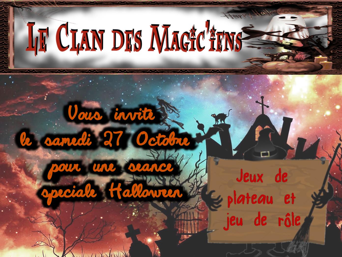 Samedi 27 Octobre : Séance spéciale Halloween à partir de 14h (Jeu de plateau et Jeu de Rôle) ZGJ93