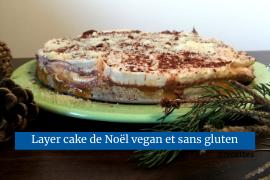 Layer cake de Noël vegan et presque tout cru