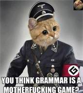 Grammar-nazi Modo