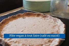 Pâte vegan à tout faire recette salée ou sucrée facile rapide