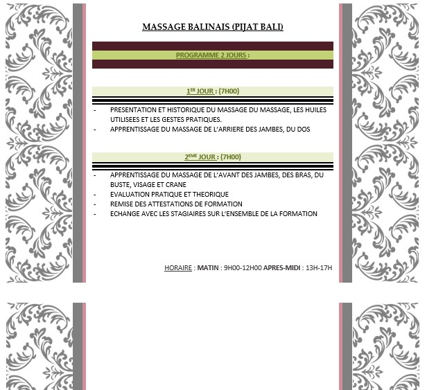 formation massage balinais