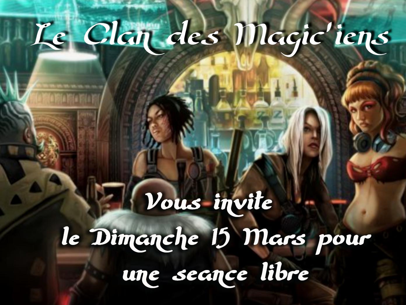 Dimanche 15 mars : Séance libre BK8m8