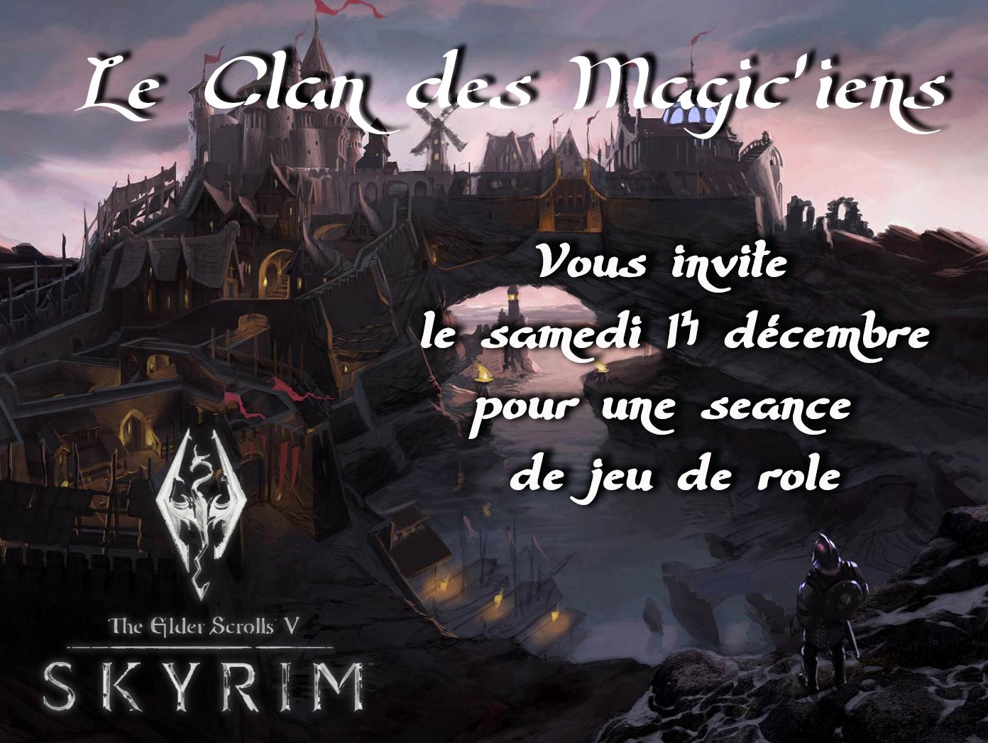 Samedi 14 Décembre : jeu de rôle Skyrim BvGe2