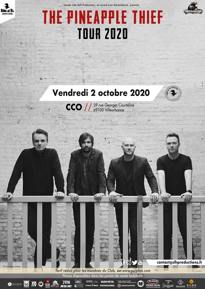 THE PINEAPPLE THIEF [Lyon - 69] > 02-10-2020