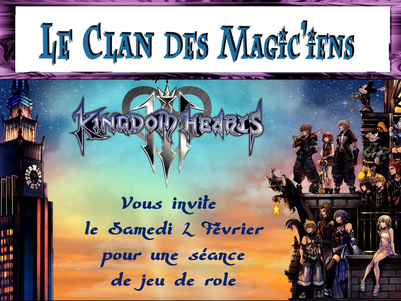 Samedi 2 Février : Jeu de rôle (Kingdom Hearts) à partir de 14h DaOb7