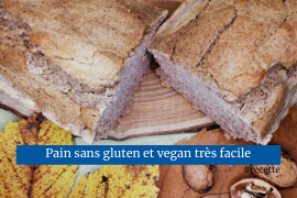 Pain vegan facile sans gluten