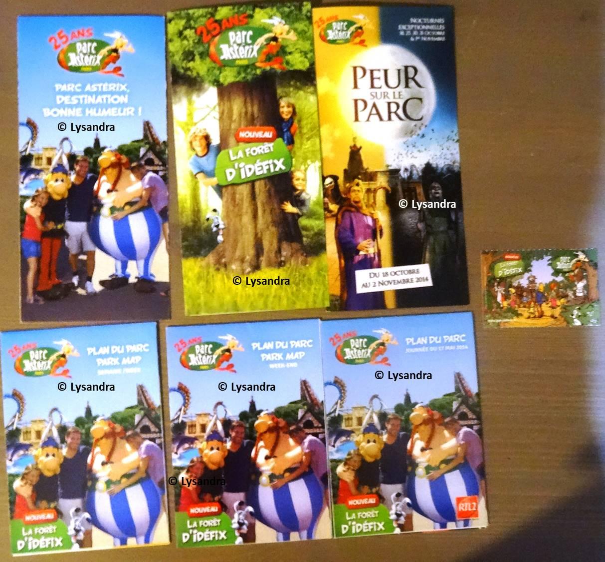 Dépliants, plans, tickets du Parc Astérix DpgDw
