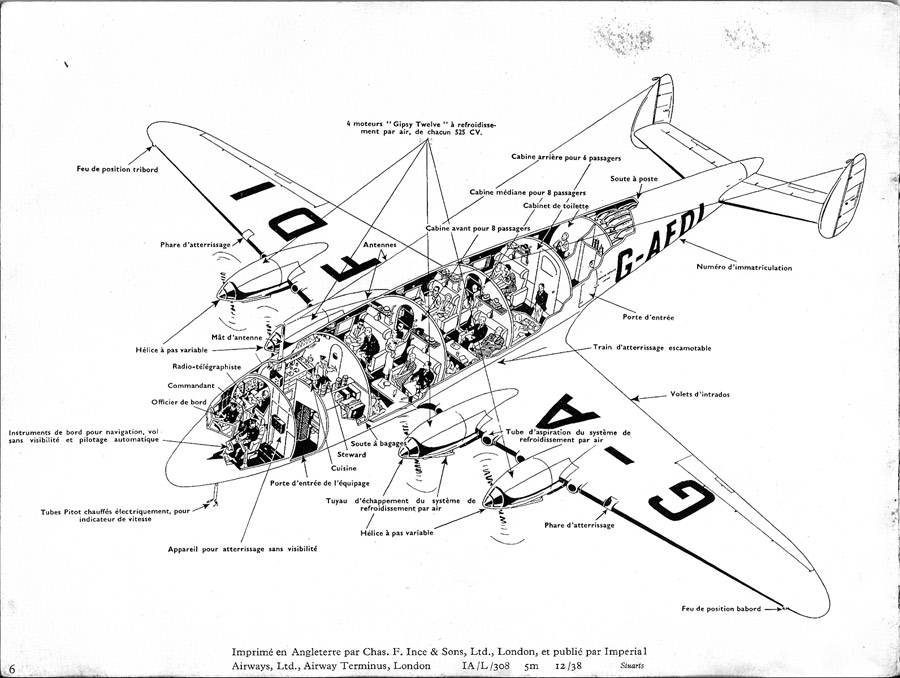 de havilland dh-91 albatros - imperial airways