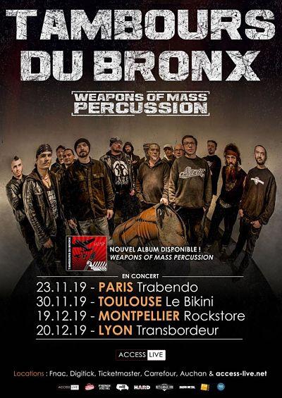 LES TAMBOURS DU BRONX [Lyon - 69] > 20-12-2019