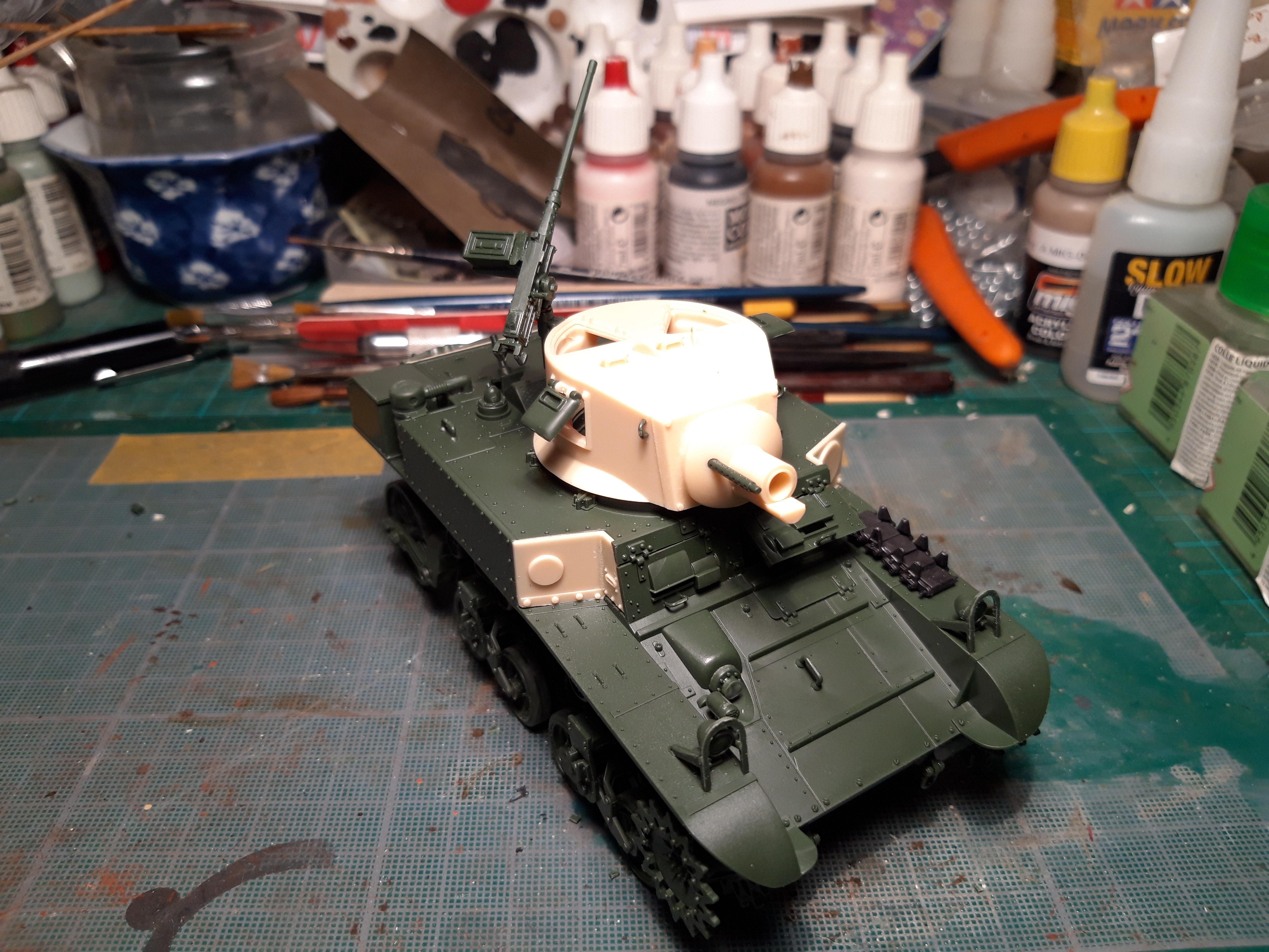 """ACADEMY 1/35 M3A1 STUART """"USMC SATAN"""" G5xwW"""
