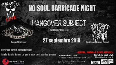 HANGOVER SUBJECT [Lyon - 69] > 27-09-2019