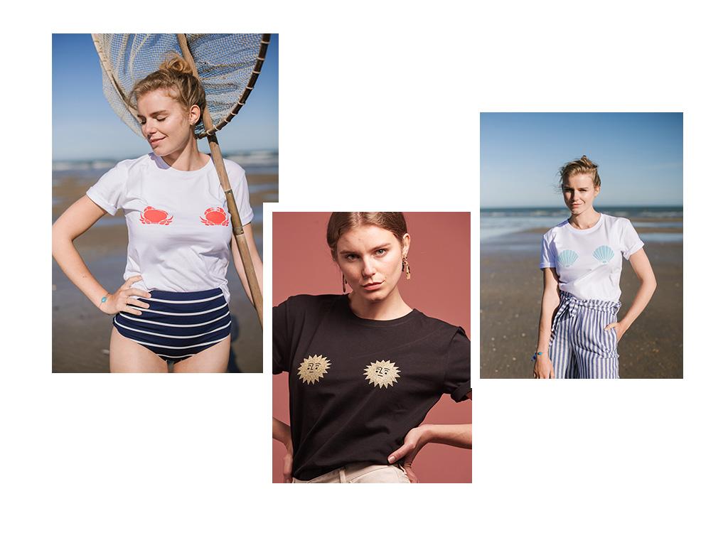 les t-shirts femme de 17 degrés