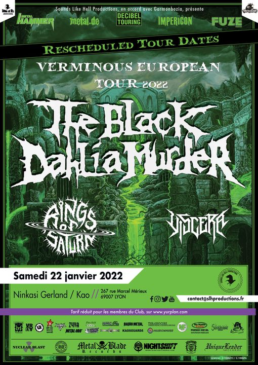 THE BLACK DAHLIA MURDER [Lyon - 69] > 22-01-2022