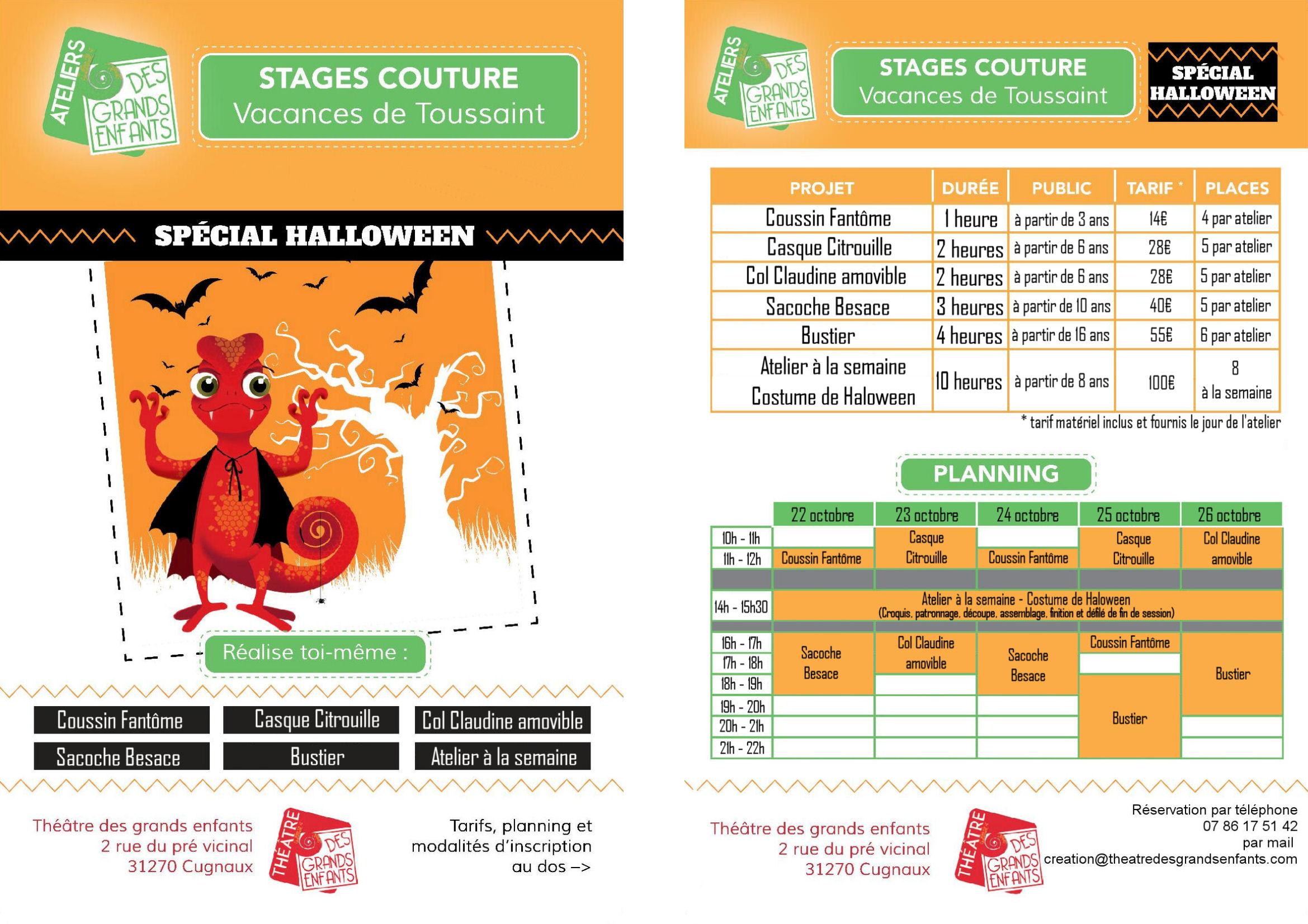 Programme vacance halloween