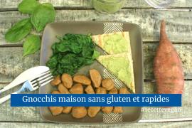 Gnocchis maison à la patate douce sans gluten recette vegan