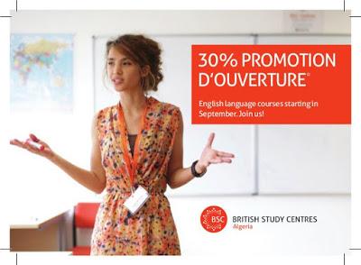 """اعلان عن فتح المركز الجامعي البريطاني بالجزائر """" British Study Centres Algeria"""