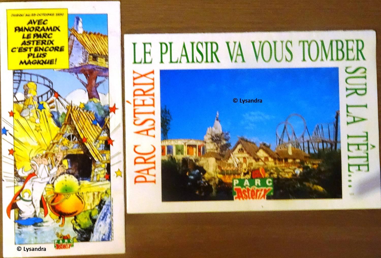 Dépliants, plans, tickets du Parc Astérix PxaDP