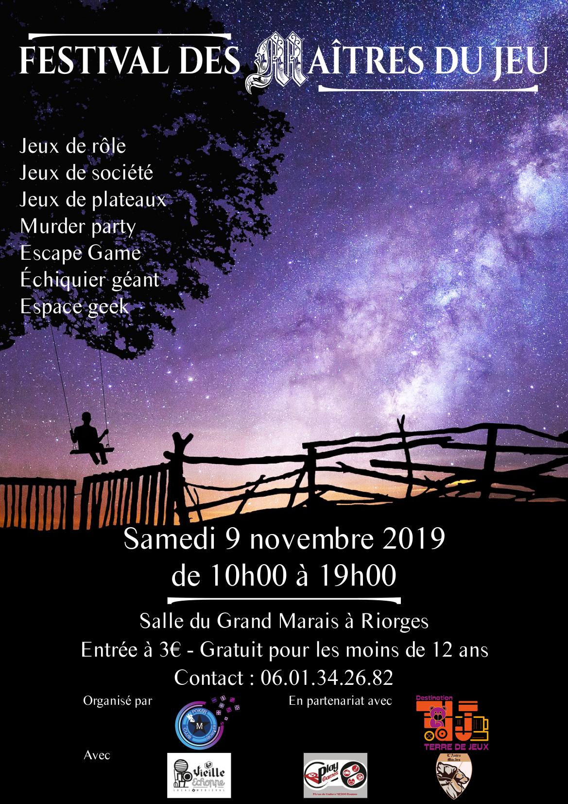 Samedi 9 Novembre : Participation au Festival des Maîtres du Jeu à Riorges VGLE9