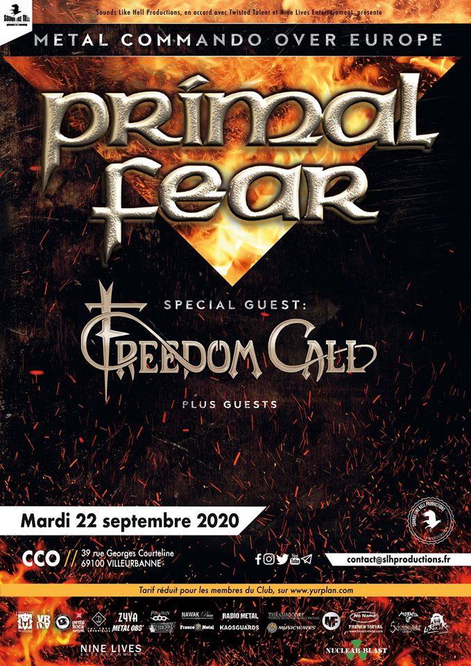 PRIMAL FEAR [Lyon - 69] > 22-09-2020