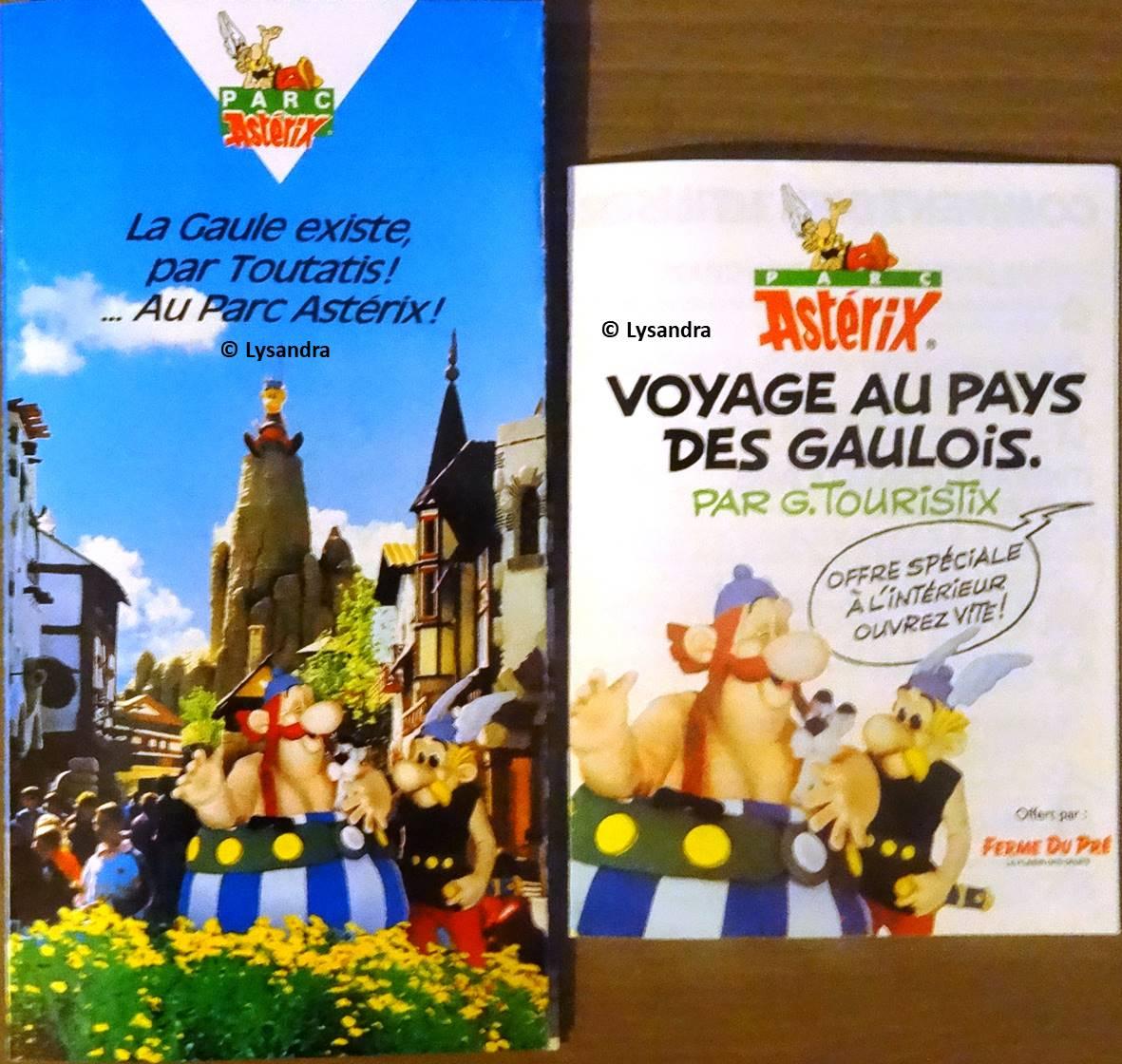 Dépliants, plans, tickets du Parc Astérix VvXWZ