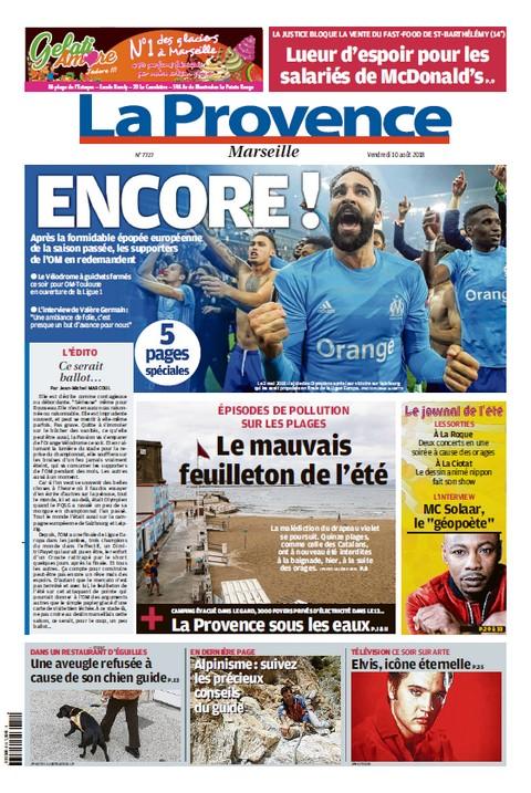 La Provence Marseille - Vendredi 10 Août 2018