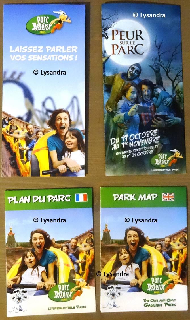 Dépliants, plans, tickets du Parc Astérix W4wWR