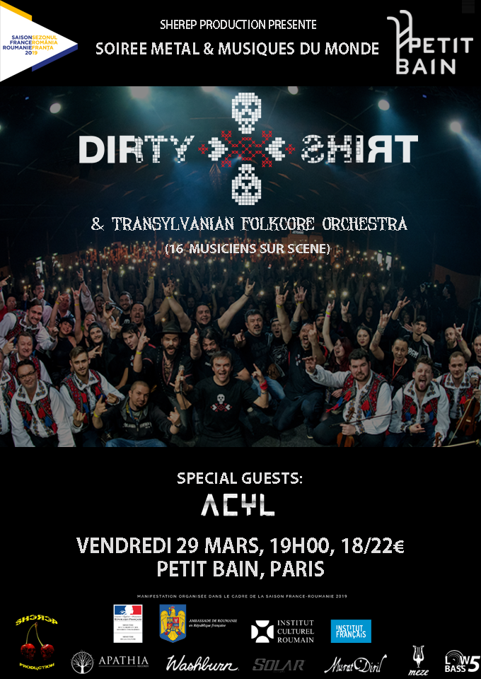 Dirty Shirt & Transylvnian Folkcore Orchestre @ Paris