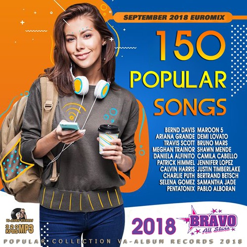 150 Popular song Euromix Septembre (2018) [Mp3-320Kbps]