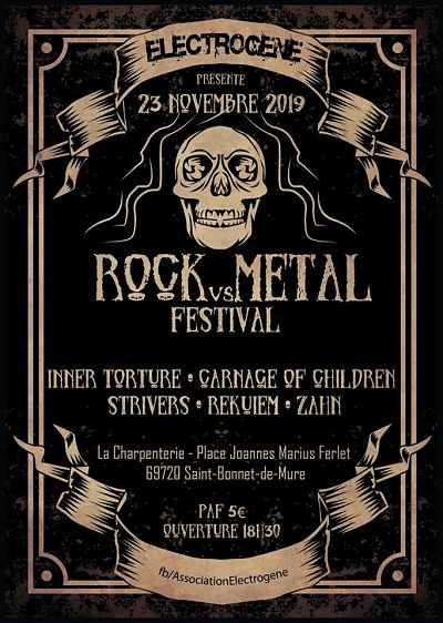 ROCK VS METAL FEST [St-Bonnet de Mure - 69] > 23-11-2019